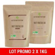 lot de 2 proteine whey bio 1 kg alter nutrition