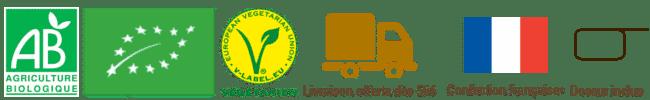certifié bio - label v - livraison offerte - confection française